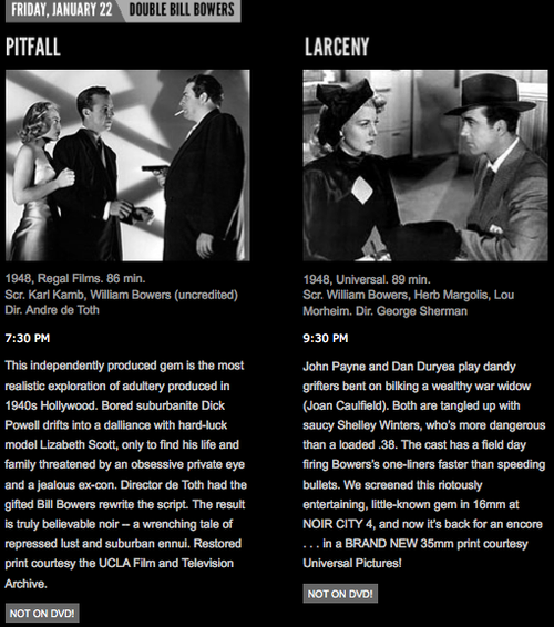 ... Lizabeth Scott, Jane Wyatt and Raymond Burr and Larceny with John Payne, ...